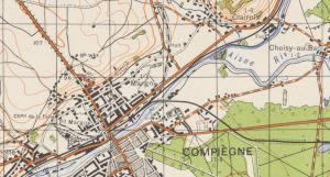 zoom de la feuille 144 des cartes topographiques 1936 au 1/50000