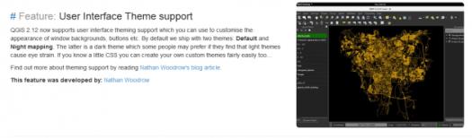 annonce du nouveau thème d'interface de qgis 2.12