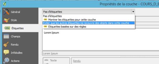 configuration de la copuche d'obstacles dans qgis 2.12