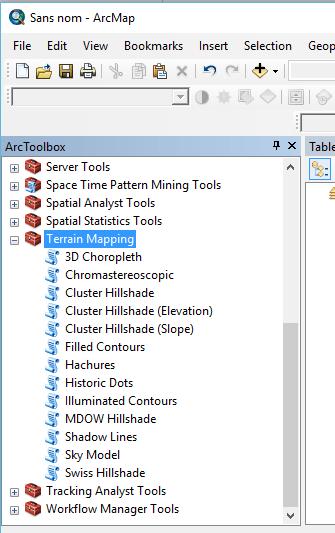 toolbox de terrain tools