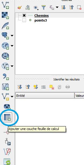 outil de chargement de table Excel dans QGis
