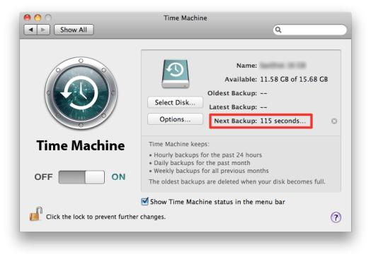 Sihirli elma time machine yedeklemek 8b