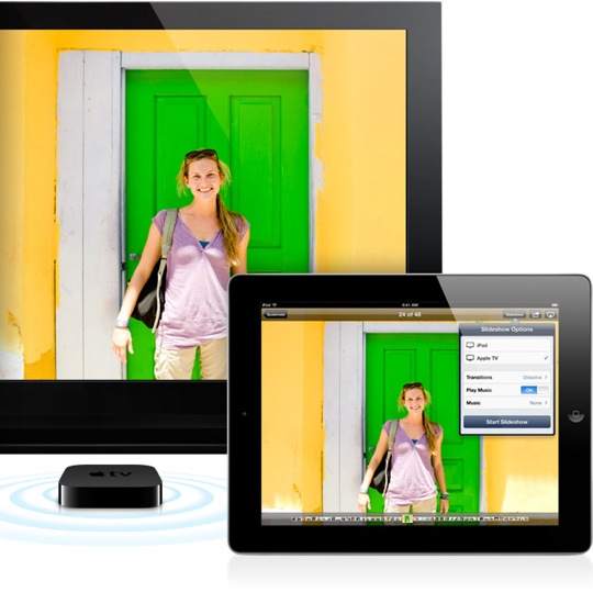 Sihirli elma apple tv airplay slideshow