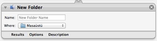 Sihirli elma automator 20 new folder