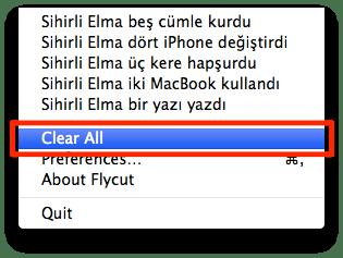Sihirli elma editor yazi kopyala flycut jumpcut pano 6