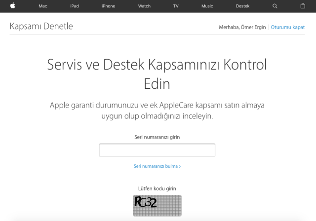 Apple Garanti Sorgulama - 4
