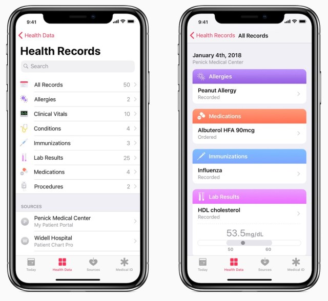 iOS 11.3 Sağlık Kayıtları Özelliği