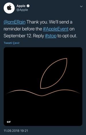 Apple Twitter Etkinlik