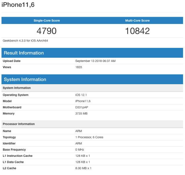iPhone Xs Performans