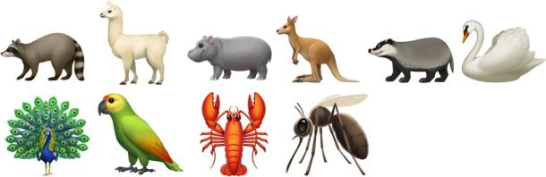 iOS 12.1 Hayvanlar Emoji