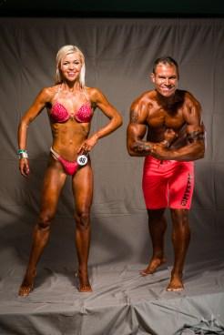 Bikiinifitness -172 atleet Anneli Vestel ja rannafitness 178+ atleet Madis Laos