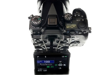 Top view of the Pentax K-1