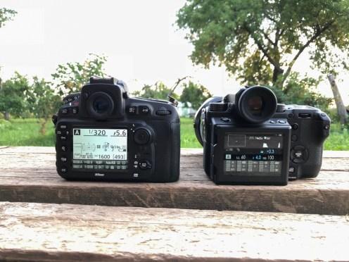 Tegelikult on Fujifilm GFX 50s sama suur kui mu Nikon D810