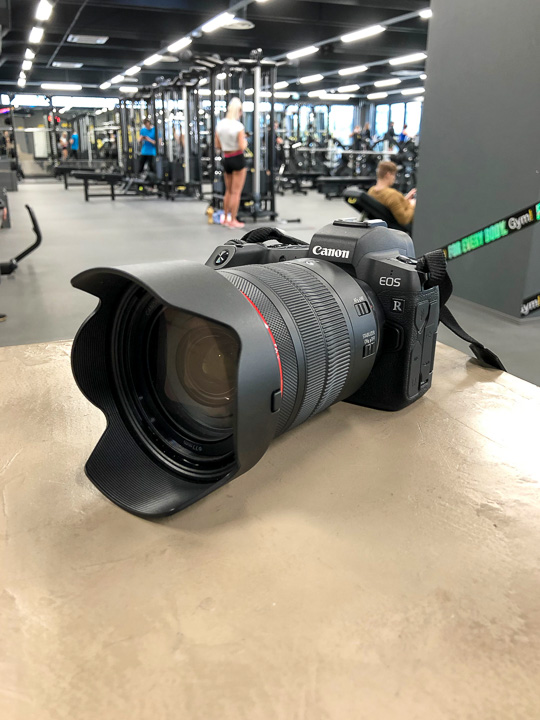 The Canon EOS R in its natural habitat