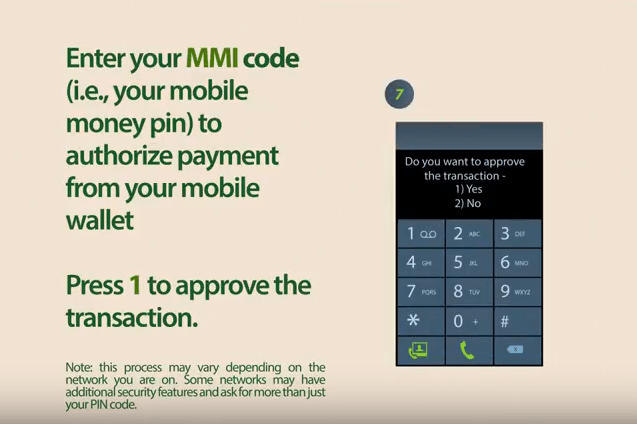 Databank mobile money top-up step 11