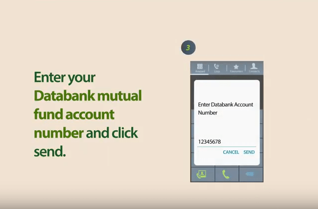 Databank mobile money top-up step 8