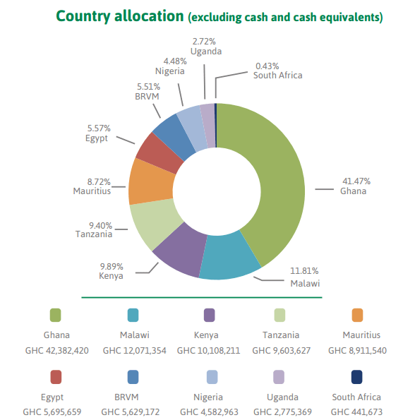 Epack investment country allocation. 2015 annual report
