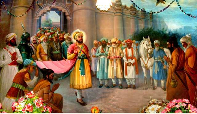 Image result for Guru Hargobind Sahib Ji on diwali