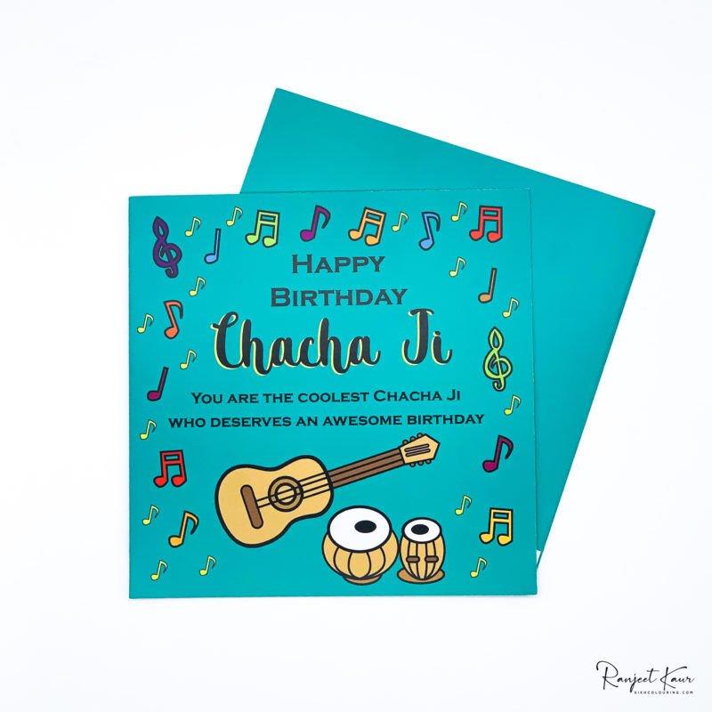 Chacha Ji Punjabi Birthday Card Sikh Colouring Books By Ranjeet Kaur