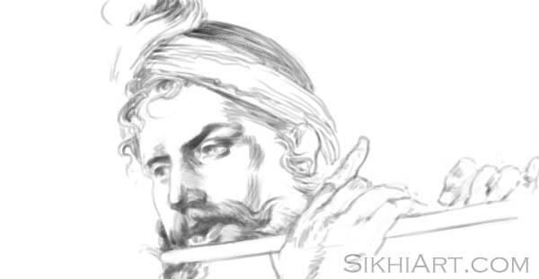 Krishan, Krishna, Krsna, Kanhaiya, Vasudev, Vishnu, Hindu Gods, Sikhi, Art, Punjab, Drawings, Sketches Bhagat Singh Bedi