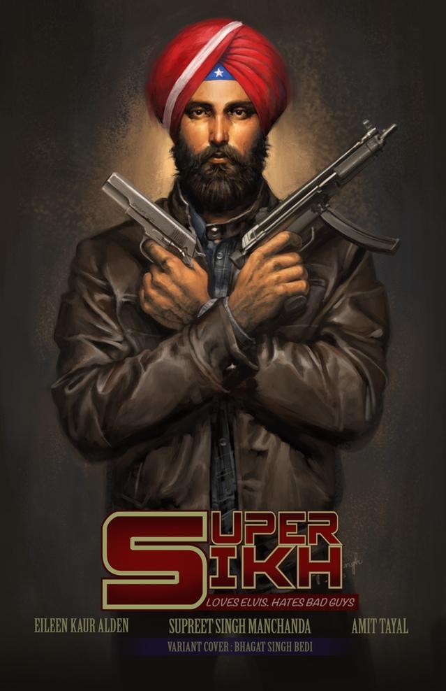 Super Sikh Bhagat Singh Bedi Sikhi Art Issue #2