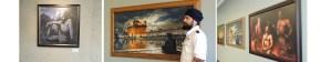 Guru Gobind Singh ji, Guru Arjun dev ji,Bhagat Singh Artist, Exhibition, Sikhi Art, Golden Temple, Harmandir Sahib, Punjab, Amritsar, India, Sikh Painting