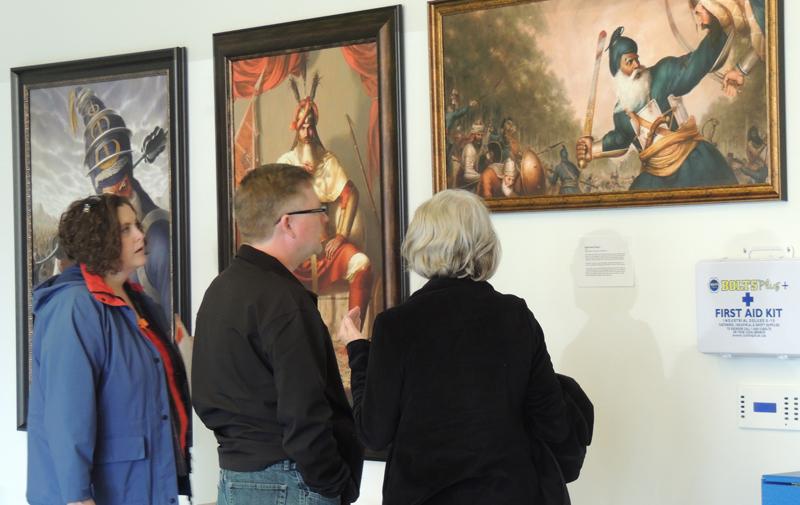 Akali Phula Singh, Hari Singh Nalwa, Baba Deep Singh,Sikhi Art, Exhibition, Bhagat Singh Bedi, Artist, Sikh Art, Sikh Painting, Punjab Art,