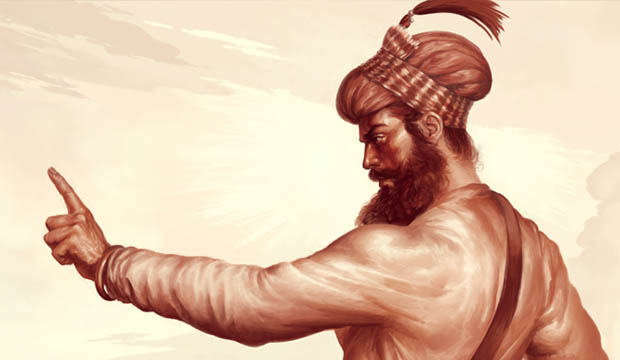 Guru Gobind Singh ji, Vaisakhi, Khalsa, Sikh Gurus, Anandpur Sahib Punjab Painting by Artist Bhagat Singh Bedi Sikhi Art