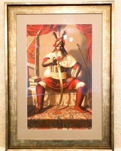 Hari Singh ji Nalwa Painting - Framed Print - Sikh Art by Artist Bhagat Singh Bedi - Collection of Pav Sidhu