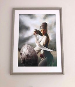 Mai Bhago ji by Artist Bhagat Singh - Kully K Deol Sikh Art Collection