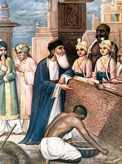 Younger sons of Guru Gobind Singh being bricked alive