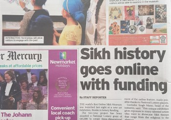 Leicester Mercury Coverage of the online Sikh Museum