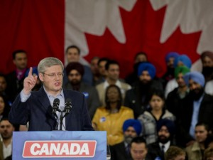 Canadian Prime Minister Stephen Harper campaigns in Sikh-heavy ridings in Canada during the 2011 federal election (photo: sikhsangat.org)