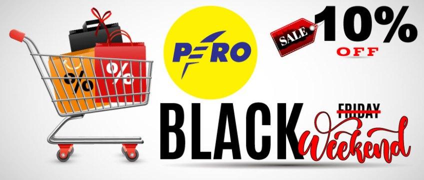 PERO: BLACK WEEKEND! 10% POPUSTA NA CIJELI ASORTIMAN!