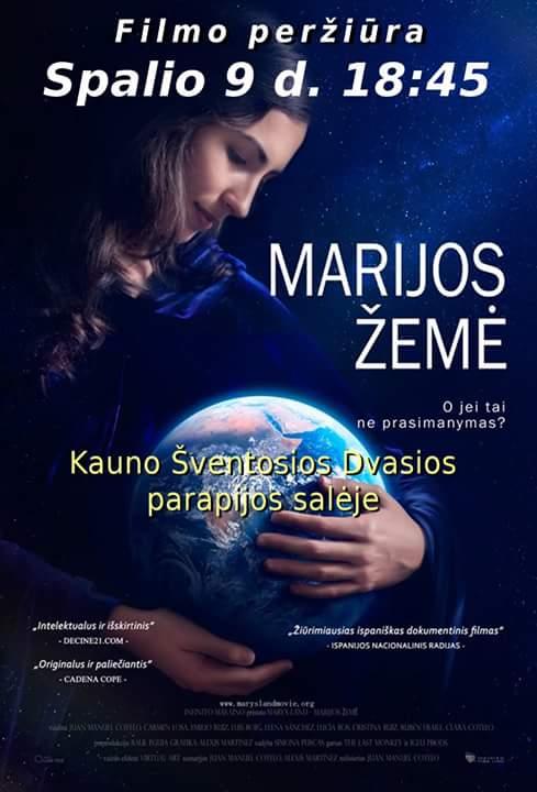 """Spalio 9 d. 18:45 filmo """"Marijos žemė"""" peržiūra"""