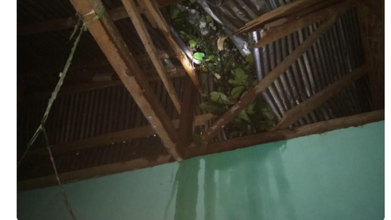 Camat Salman Anshorie, Tinjau Langsung Lokasi Kejadian Angin Puting Beliung