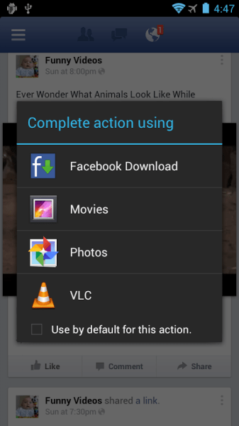 Video Downloader For Facebook UI