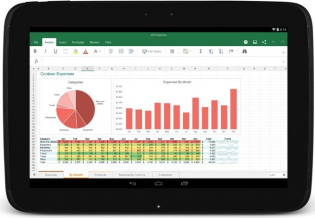 Microsoft Office di Tablet Android