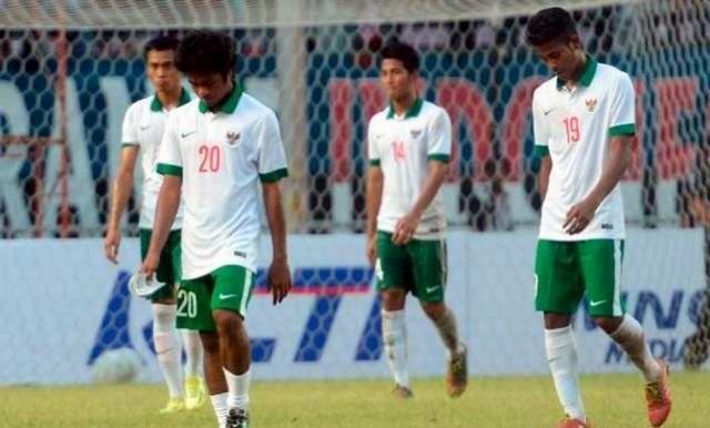 Timnas Indonesia U23 u22 kalah gagal