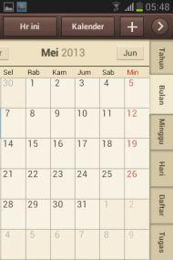 Layar Kalender Samsung Galaxy Fame GT-S6810