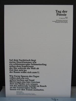 Tag der Poesie Gedicht 2