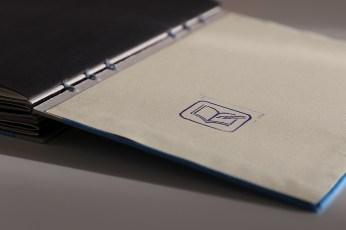 Buchbinden - Skizzenbuch mit Koptischer Bindung: Stempel