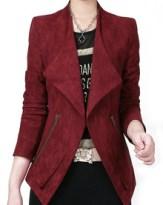 Blazer Casual zippé -rouge bordeaux
