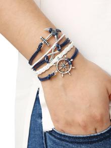 bracelet motif ancre