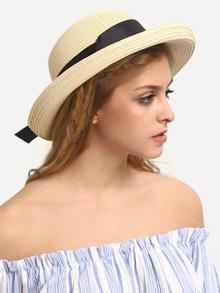 chapeau avec nœuds -Jaune clair