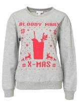 Grey Round Neck Letters Print Sweatshirt