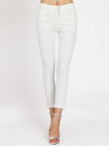 White Slim Denim Pant