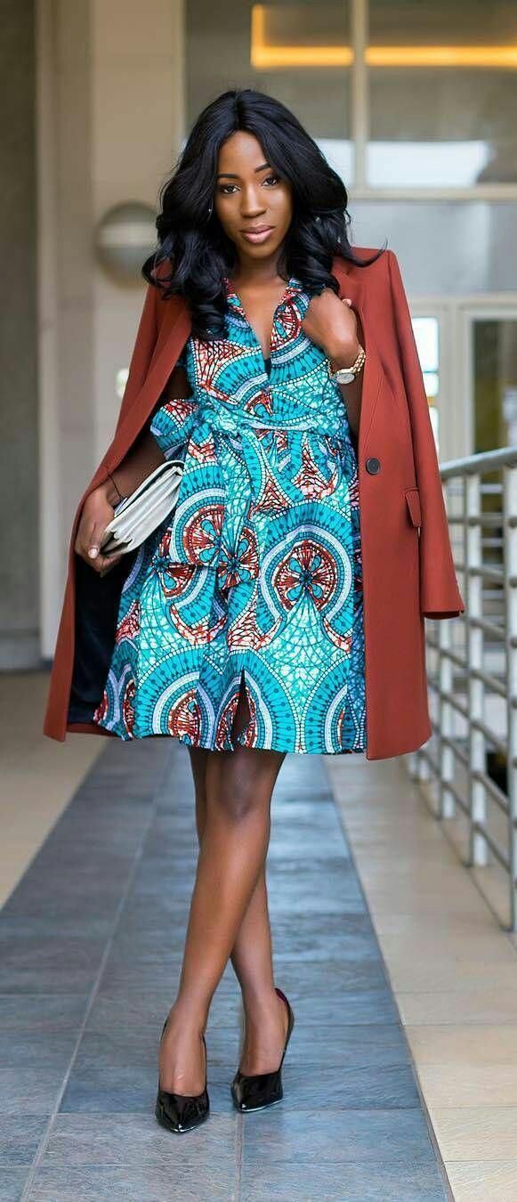 20 jolies modèles de robes en pagne Blog Mode et Lifestyle (19) - Silence Brisé