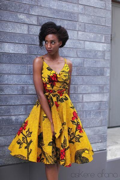 47 modèles de robes en pagne chics et tendances pour vos occasions Blog Lifestyle Lomé Togo ...