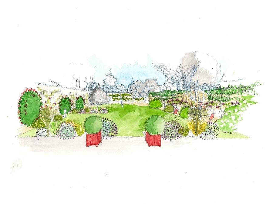 Un Jardin Facile Et Colore Chez Sandrine Silence Ca Pousse